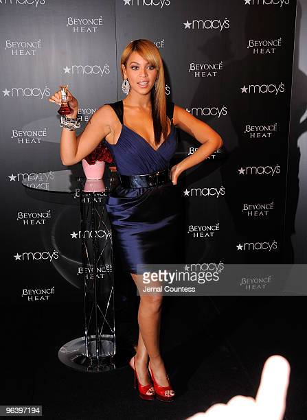 Grammy winning recording artist Beyonce launches her new fragrance Heat at Macy's Herald Square on February 3 2010 in New York City