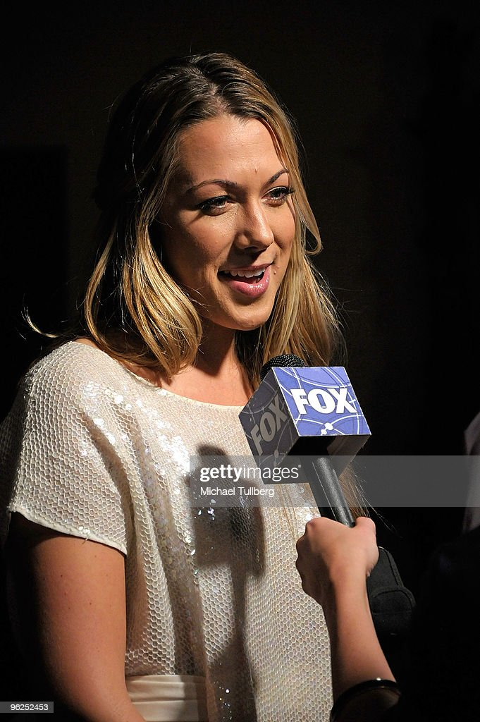 GRAMMY-nominated artist Colbie Caillat gets interviewed on the red carpet at the GRAMMY Foundation's 12th Annual Music Preservation Project 'Cue The Music: A Celebration Of Music And Television', held at the Wilshire Ebell Theatre on January 28, 2010 in Los Angeles, California.