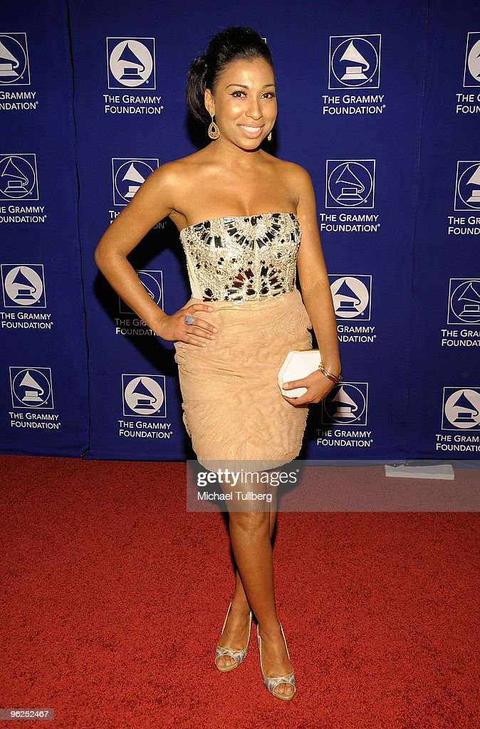 GRAMMY-nominated R&B artist Melanie Fiona arrives at the GRAMMY Foundation's 12th Annual Music Preservation Project 'Cue The Music: A Celebration Of Music And Television', held at the Wilshire Ebell Theatre on January 28, 2010 in Los Angeles, California.