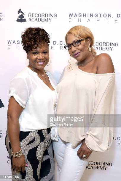 Grammys DC Chapter Trustee Tracy Hamlin and Traci Braxton at the Grammys Washington, DC Chapter New Member Mix at The Recording Academy on September...