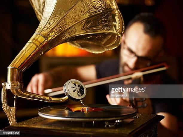 Gramophone and violin