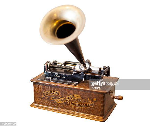 gramophone - thomas edison stock pictures, royalty-free photos & images