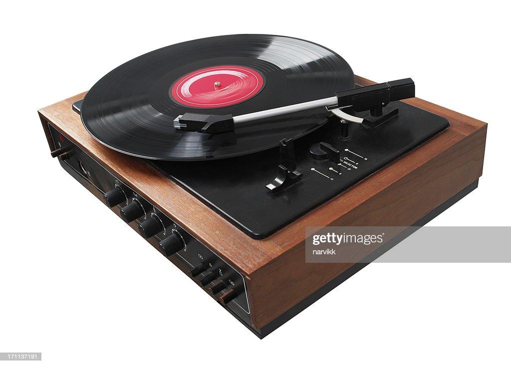 Gramophone Playing LP Disc : Stock Photo