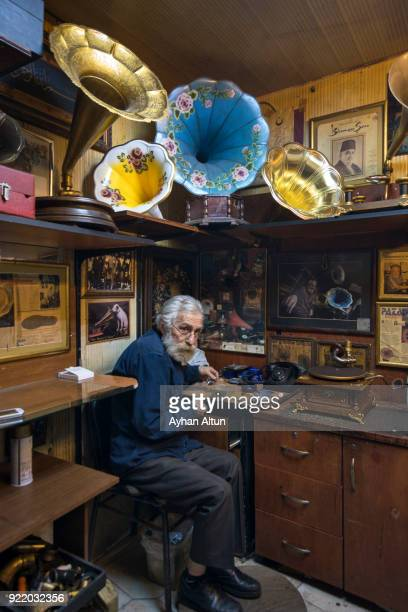 Gramophone Repairman inside The Grand Bazaar, Istanbul, Turkey