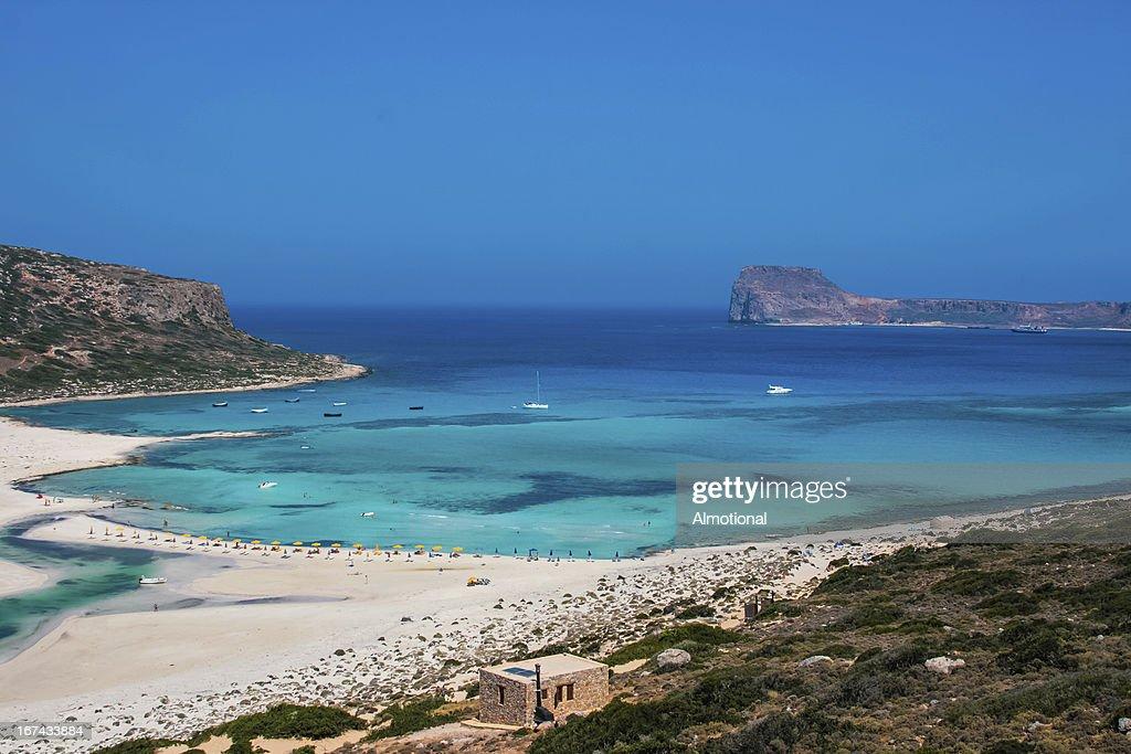 Gramvousa island and Balos Lagoon on Crete : Stock Photo