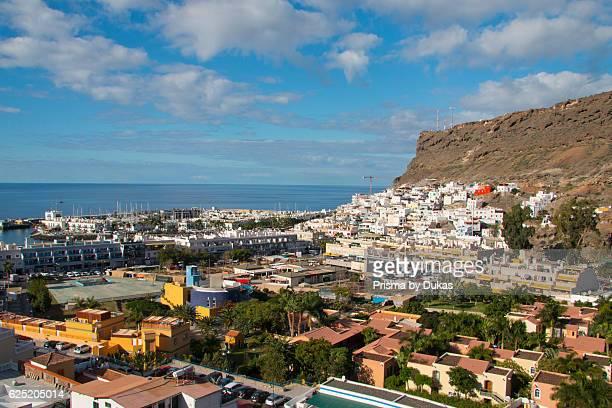 Gran Canaria Canary islands Spain Europe Mogan Puerto de Mogan sea village view