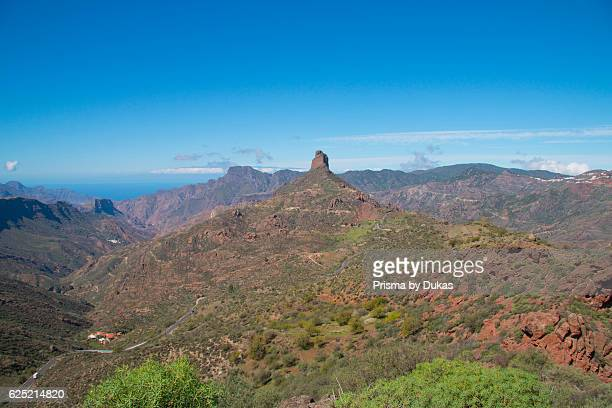 Gran Canaria Canary islands Spain Tejeda Europe cliff rocks mountains vegetation volcanical Roque Bentayga Bentayga Bentaiga