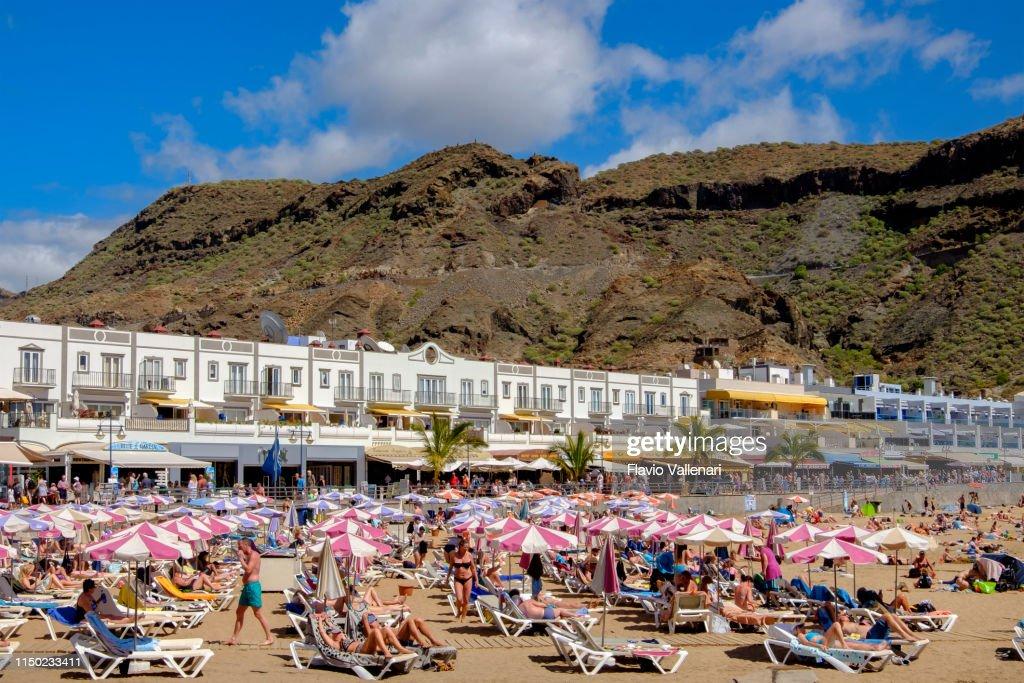 Gran Canaria, Canary Islands-Mogan Beach : Stock Photo