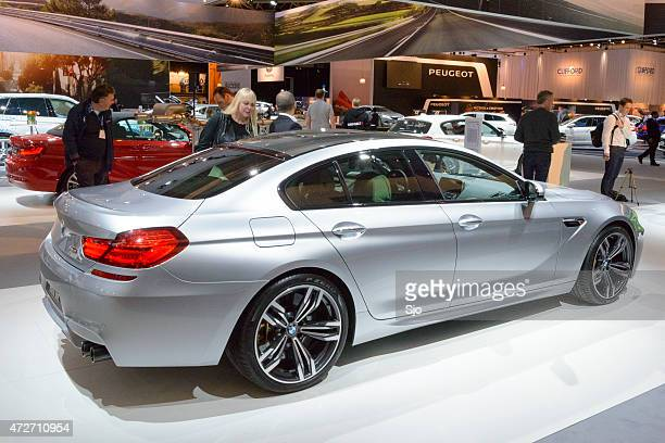"bmw m6 gran coupe luxury performance sedan rear view - ""sjoerd van der wal"" or ""sjo"" stock pictures, royalty-free photos & images"