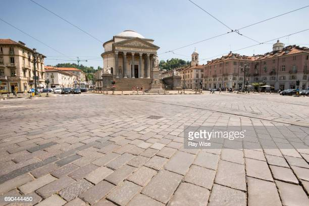 Gran Madre di Dio and road intersection in front of it, Turin, Italy