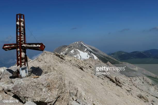 Gran Sasso National Park View of Monte Camicia from the Vetta del Monte Prena L'Aquila Abruzzo Italy Europe