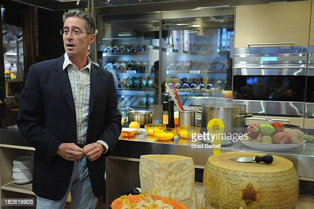 Grana Padano's Paolo Grandjacquet speaks at the Grana Padano Healthy Eating for Kids with Lidia Bastianich event at Eataly on October 1 2013 in New...