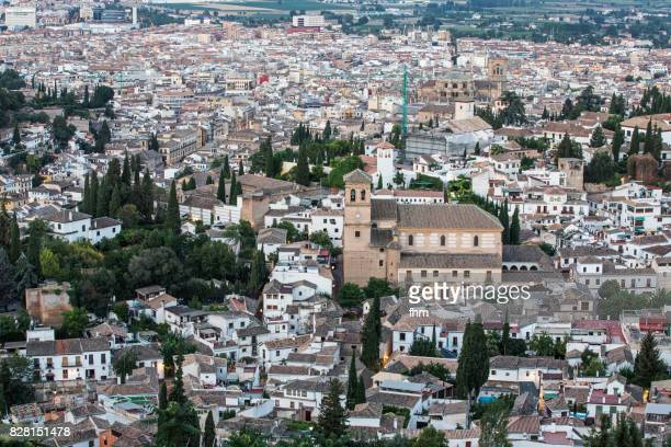 granada (alhambra) - albaicín old town - andalusia/ spain - albaicín fotografías e imágenes de stock