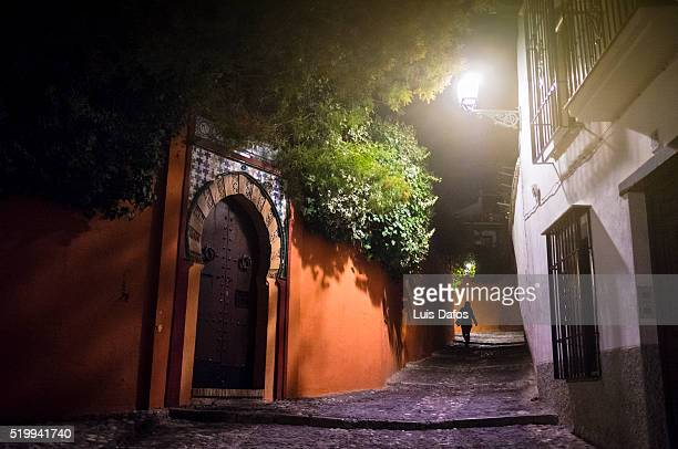 Granada, Albaycin, night