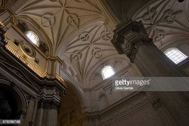 granada cathedral, granada. detail of vault. - espiritualidad stock pictures, royalty-free photos & images