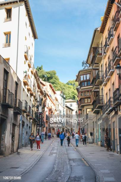 granada streets - granada province stock pictures, royalty-free photos & images