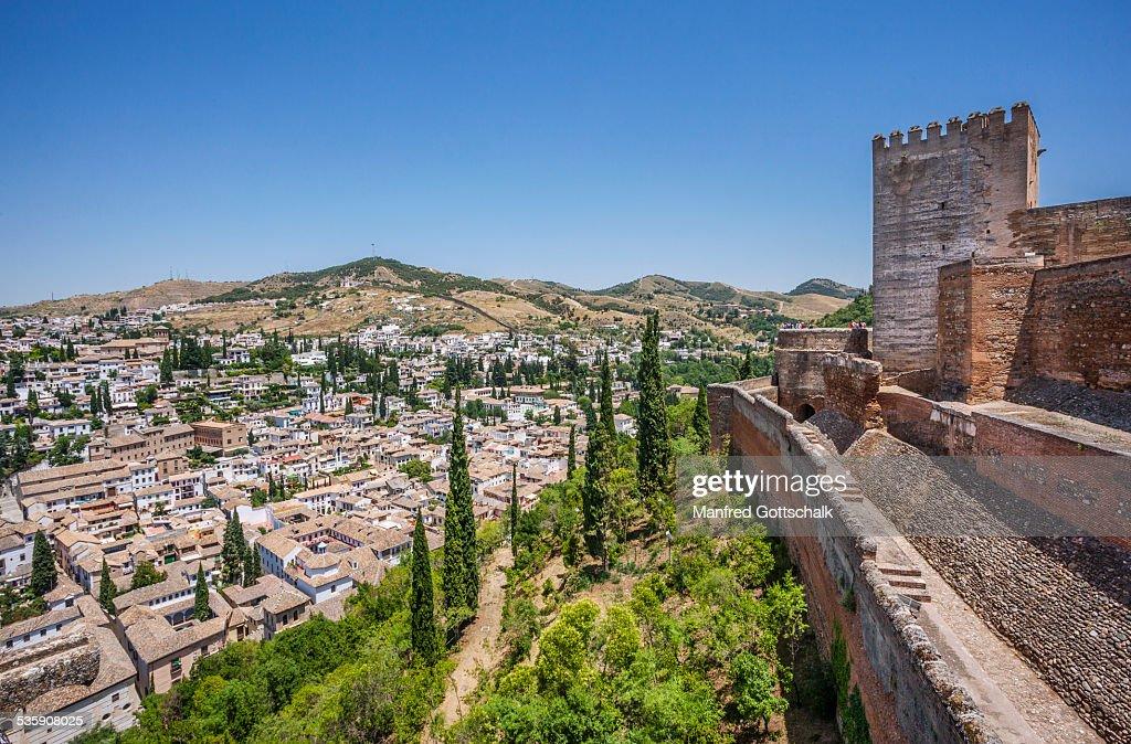 Granada view from the Alcazaba : Foto de stock