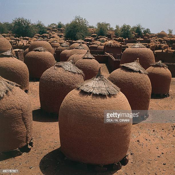 Granaries in an oasis on the outskirts of Niamey Niger