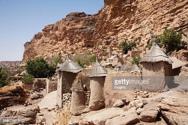 Granaries in Irelli, Bandiagara Escarpment, Mali