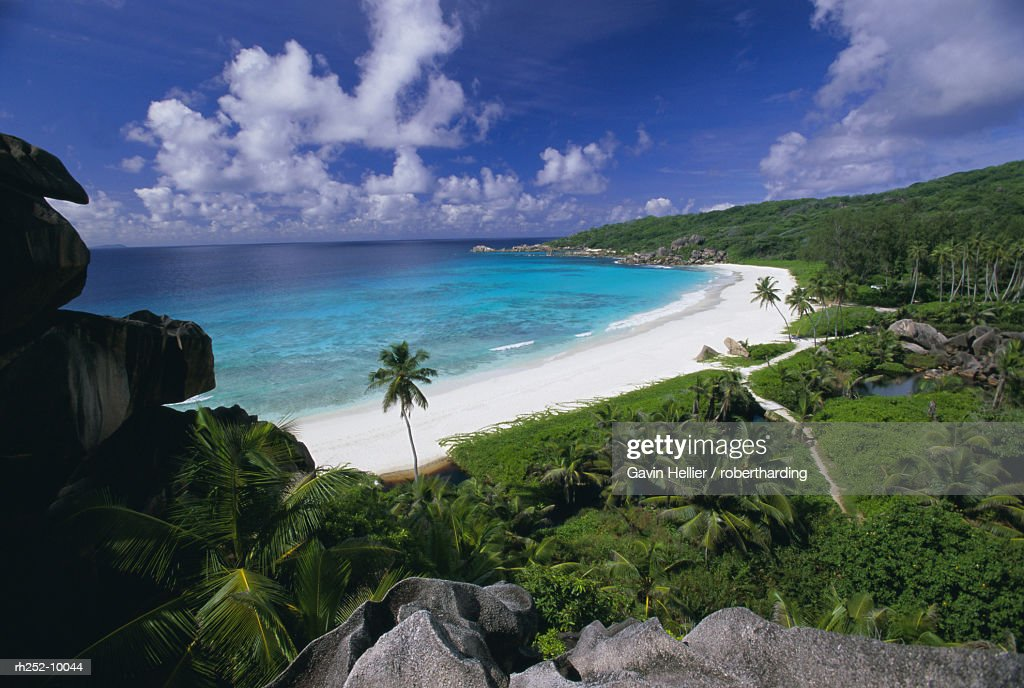 Grand Anse beach, La Digue Island, Seychelles, Indian Ocean, Africa : Foto de stock