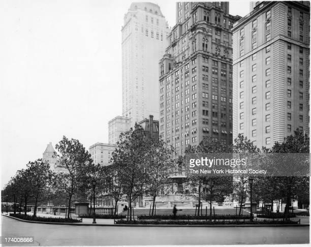Grand Army Plaza, Manhattan, 58th Street opposite Plaza Hotel, New York, New York, 1920s.