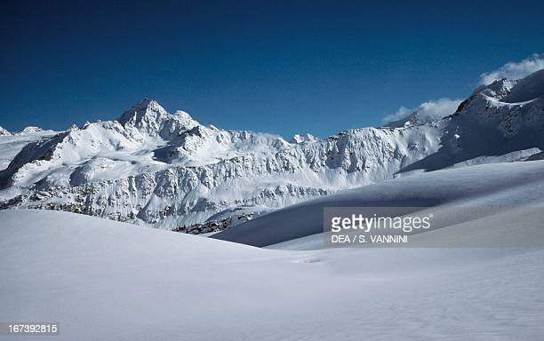 Grand Assaly from the slopes of Les Suches Little St Bernard Pass Valle d'Aosta Italy