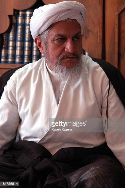 Grand Ayatollah Yousef Sanei in his library in the Holy city of Qom, which is the heart of Shiite Islam, 14th June 2003. Sanei is a pro-reform...