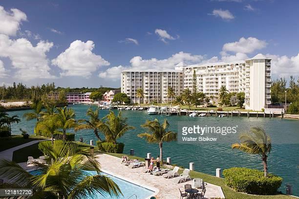 grand bahama isl, lucaya, lucayan condos - nassau stock pictures, royalty-free photos & images