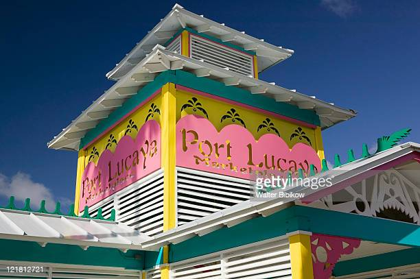 grand bahama isl, lucaya, marketplace sign - ナッソー ストックフォトと画像