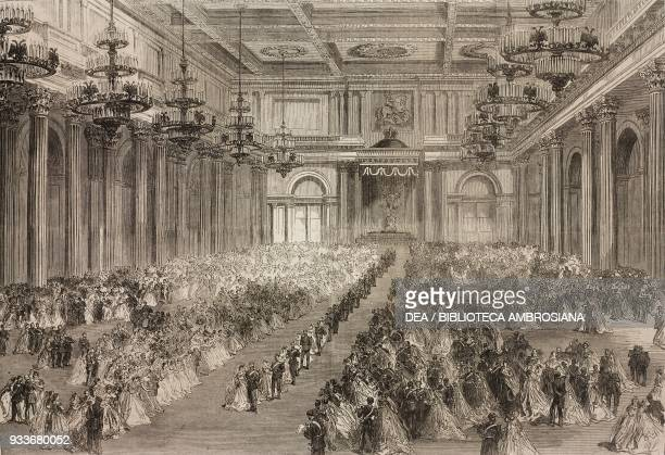 Grand ball in the St George's Hall of the Winter Palace the marriage of Alexander Alexandrovich Romanov and Maria Feodorovna November 9 St Petersburg...