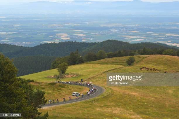 Grand Ballon / Peloton / Landscape / during the 106th Tour de France 2019, Stage 6 a 160,5km stage from Mulhouse to La Planche des Belles Filles...