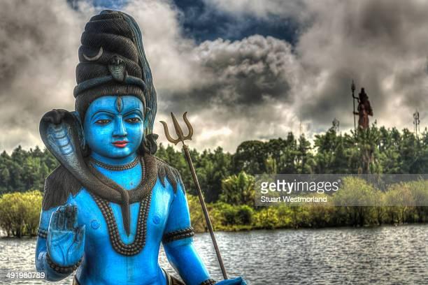 grand bassin - maha shivaratri stock photos and pictures