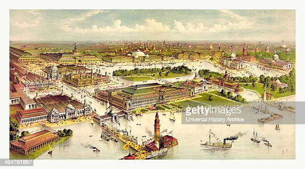 Grand Birds Eye View Of The Grounds And Buildings Of The Great Columbian Exposition At Chicago Illinois 1892 1893 In Commemoration Of The Four...