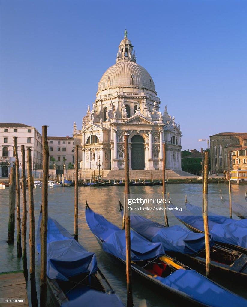 Grand Canal and gondolas, Venice, UNESCO World Heritage Site, Veneto, Italy, Europe : Stockfoto