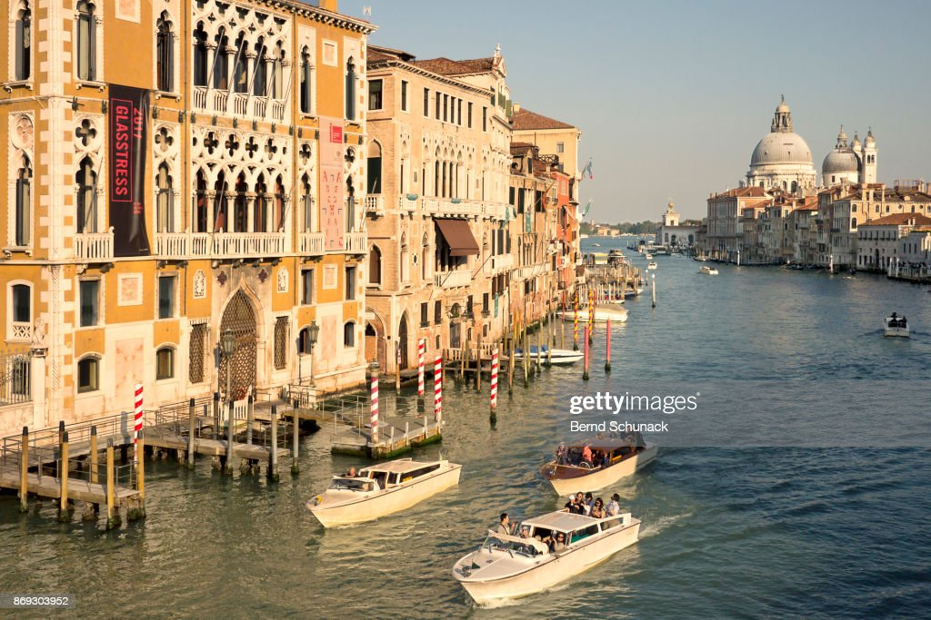 Grand Canal and Santa Maria della Salute : Stock-Foto