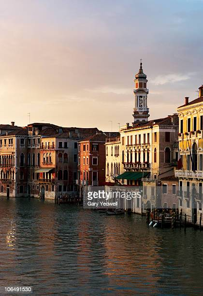 grand canal at sunset - yeowell stock photos and pictures