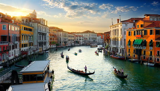 Grand Canal at sunset 627304216