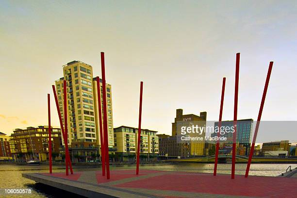 grand canal dock, dublin - catherine macbride stock pictures, royalty-free photos & images