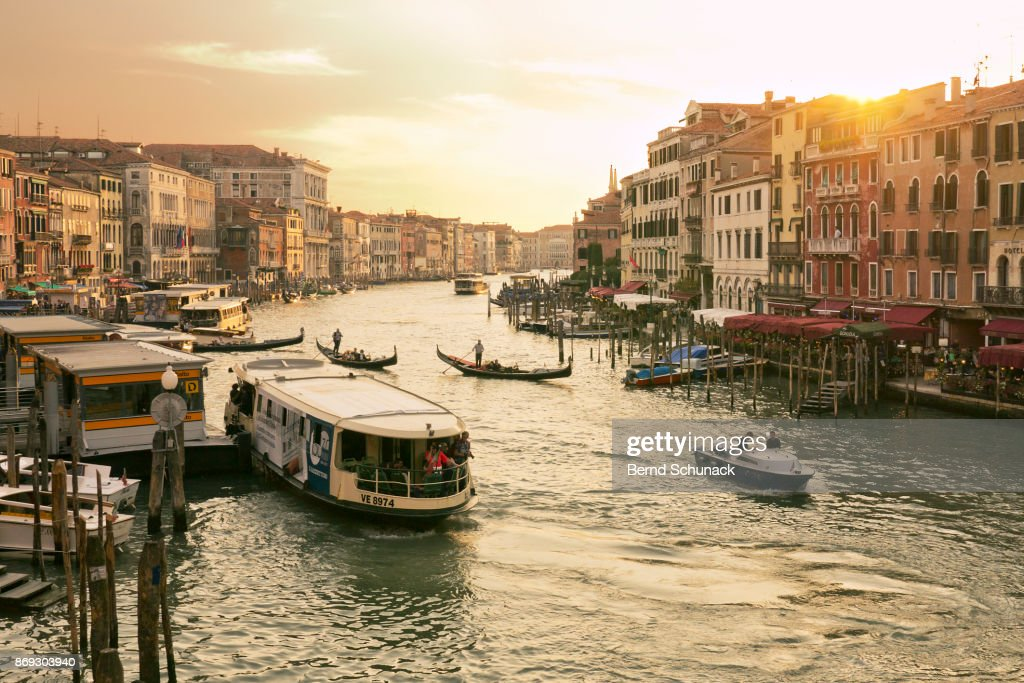 Grand Canal in warm Sunset Light : Stock-Foto