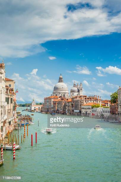 grand canal on a sunny summer day, venice, italy - venice stock pictures, royalty-free photos & images