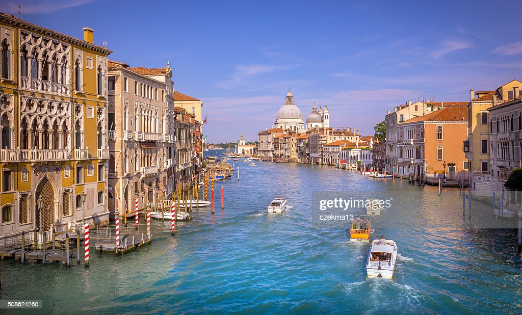 Grand Canal scene, Venice : Stock Photo