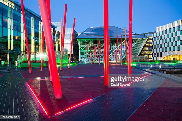 CONTENT] Grand Canal Square in the modern redelveoped area of Dublin City at dawn