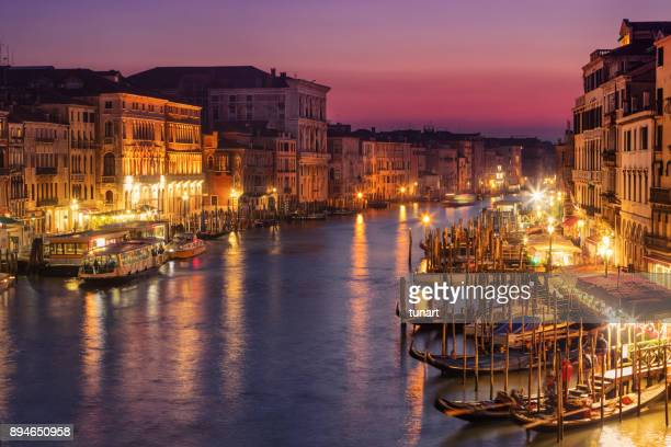 grand canal, venice, italy - gondola traditional boat stock pictures, royalty-free photos & images