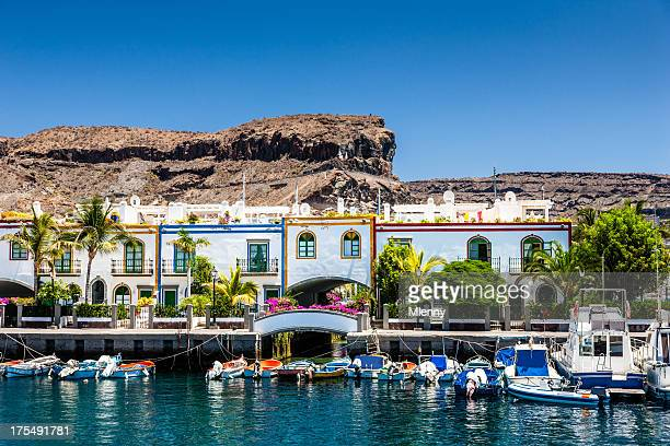 grand canary puerto de mogan - grand canary stock pictures, royalty-free photos & images