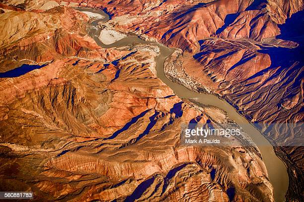 grand canyon aerial - sandstone stock pictures, royalty-free photos & images