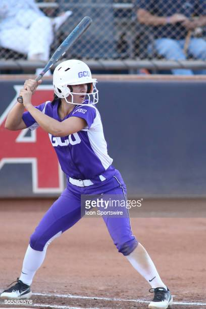 Grand Canyon Antelopes second baseman Madelyn Dowdle bats during a college softball game between the Grand Canyon Antelopes and the Arizona Wildcats...