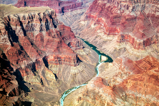 Grand Canyon, Colorado River, Aerial View, Arizona, USA 925231284