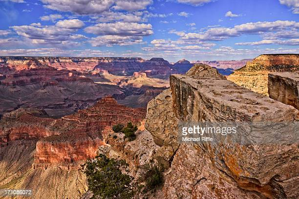 Grand Canyon from an overlook during spring day