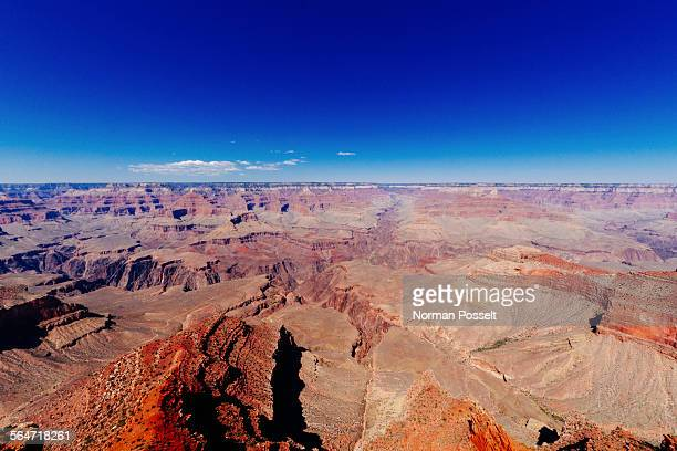 Grand Canyon National Park against clear blue sky