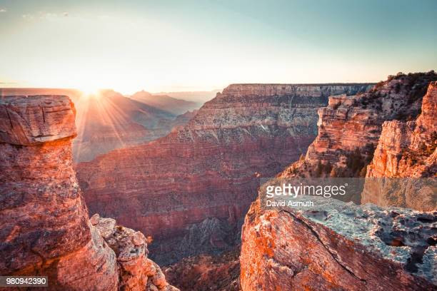 grand canyon national park at sunrise, arizona, usa - category:grand_canyon_national_park stock pictures, royalty-free photos & images